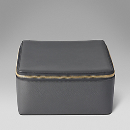 Leather large trinket case