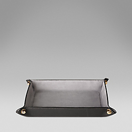 Leather small trinket tray