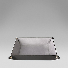 Leather large square trinket tray