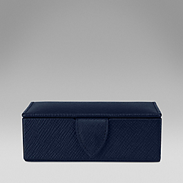 Leather small cufflink box
