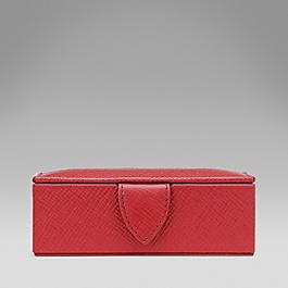 Leather small cufflink box