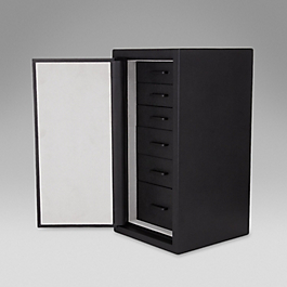 Leather accessory tower
