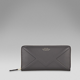 Leather embossed envelope purse