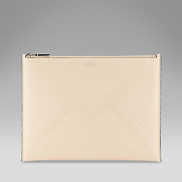 Leather embossed envelope clutch