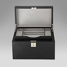 Leather accessory box