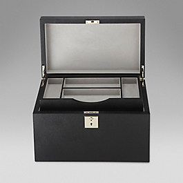 Leather accessory box