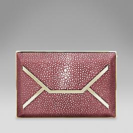 Shagreen envelope clutch