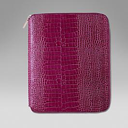 Leather zip folder