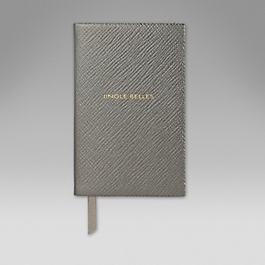Leather 'Jingle belles' wafer notebook