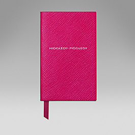 Leather 'Higgledy piddledy' wafer notebook