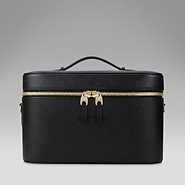 Leather vanity case