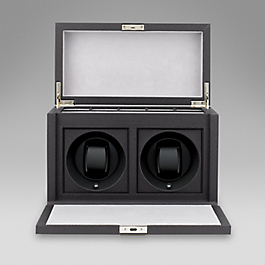 Leather rotray watch box