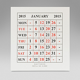 Leather 2015 S500 Calendar Refill Cards