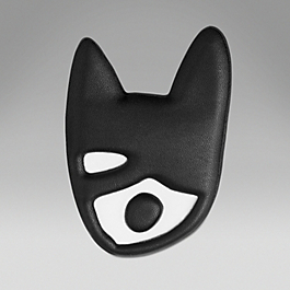 Leather Cat Pin