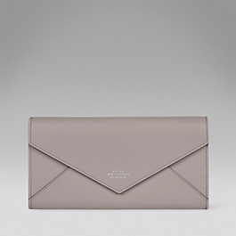 Leather evening envelope clutch