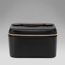 Leather mini jewellery case