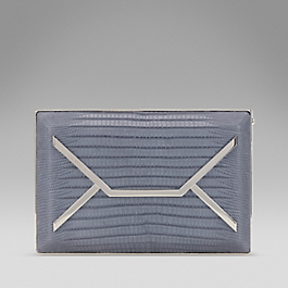Leather Mini Envelope Box Clutch