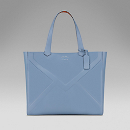 Leather East West Tote