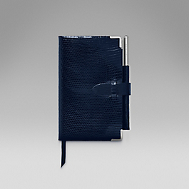 Leather 2016 Panama Diary with gilt pencil