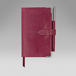 Leather 2018 Panama Diary with gilt pencil
