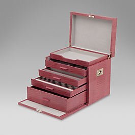 Leather Deluxe Jewellery Box