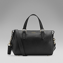 Leather Small Boston Bag
