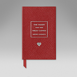 Leather The Heart That Has Truly Loved' Wafer Notebook