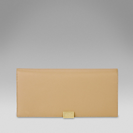 Leather Slim Travel Wallet With Slide