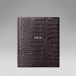 Luxury Leather 2016 Fashion Diary Day per Page