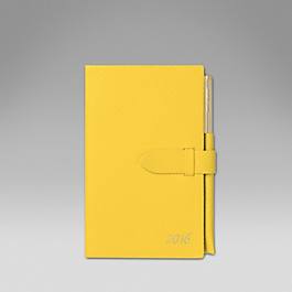 Luxury Leather 2016 Panama Diary with pocket and gilt pencil