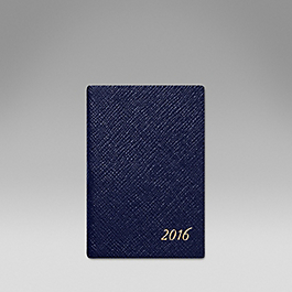 Luxury Leather 2016 Wafer Diary with cedar pencil