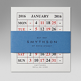 Leather 2015 S500 Calendar Refill Cards