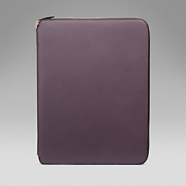 Leather A4 Zip Folder