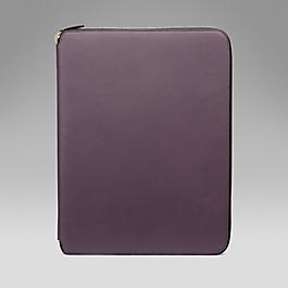 Leather A4 Zip Folder
