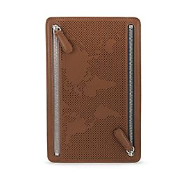 Leather Zip Currency Case