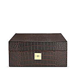 Leather Lockable Watch Box
