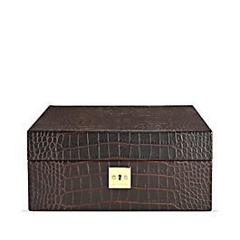 Leather Lockable Watch Box