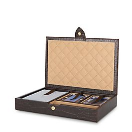 Coffret de bridge en cuir