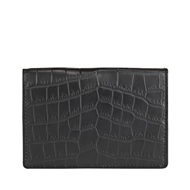 Wilde business card case in black exotic alligator skin smythson wilde business card case colourmoves
