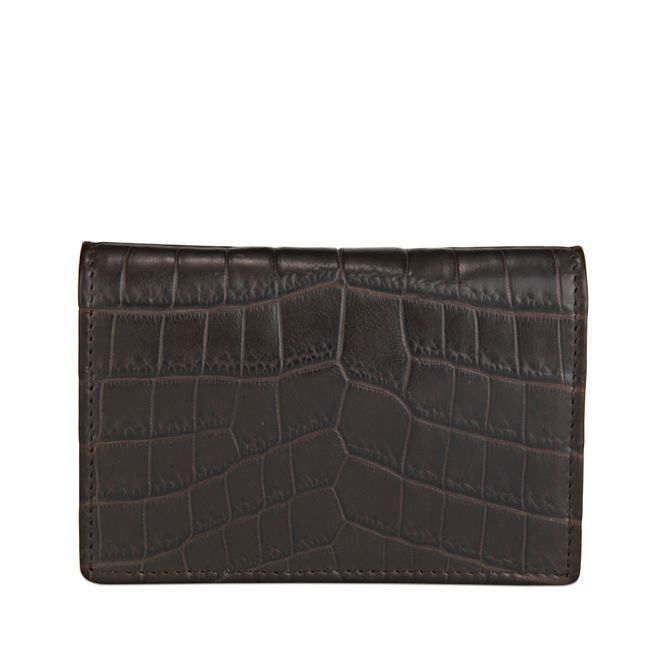 Wilde business card case in brown exotic alligator skin smythson wilde business card case colourmoves