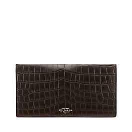 Crocodile Slim Travel Wallet