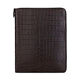 Leather Wilde A4 Zip Writing Folder