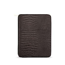 Leather A5 Zip Writing Folder