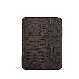 Leather A5 Zip Writing Folder