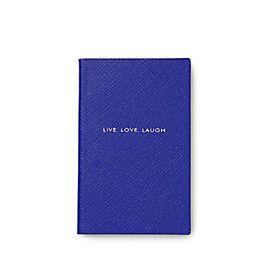 """Notizbuch """"Live Love Laugh"""" von Panama mit Ledereinband"""