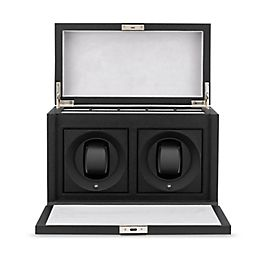 Leather rotray watch box