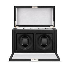 Boîte pour montres rotative en cuir