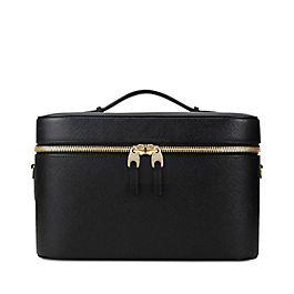 Leather vanity case