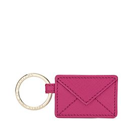 Porte-clés enveloppe en cuir