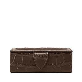 Wilde Mini-Schatulle für Manschettenknöpfe aus Leder